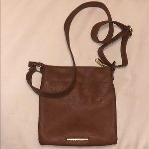 Steve Madden brown leather crossbody bag
